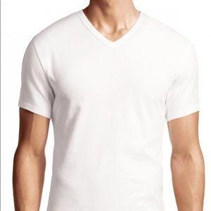 CK Calvin Klein Basic Staple White Vneck T-shirt